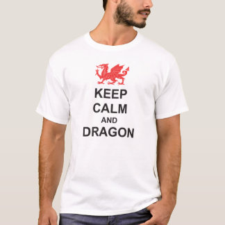 St Georges Day KEEP CALM en DRAAK T Shirt