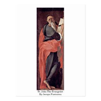 St John l'évangéliste par Jacopo Pontormo Carte Postale