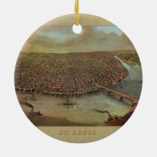 St Louis Missouri par George Degen à partir de Ornement Rond En Céramique