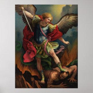 St Michael la grande affiche d'Arkhangel