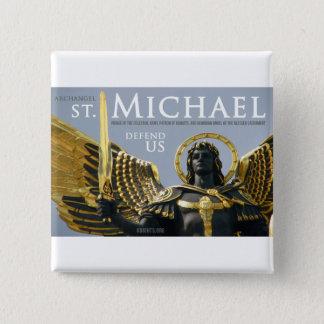St Michael nous défendent dans la bataille Badge Carré 5 Cm