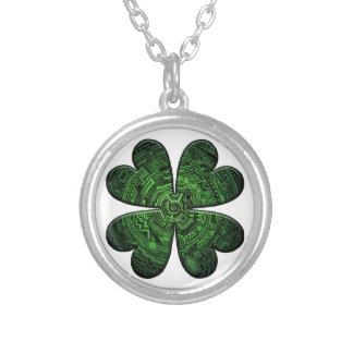 St. Patrick Dag Vier de Keltische Klaver/de Klaver Ketting Rond Hangertje