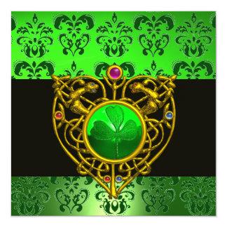 ST. PATRICK het KELTISCHE Monogram van het Damast Kaart