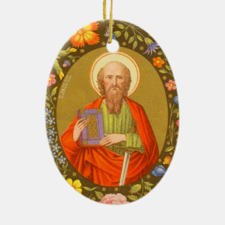 St Paul double face l'apôtre (P.M. 06) Ornement Ovale En Céramique