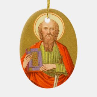 St Paul double face l'apôtre (P.M. 06a) Ornement Ovale En Céramique