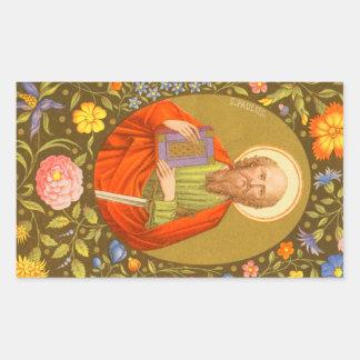 St Paul l'apôtre (P.M. 06) Sticker Rectangulaire