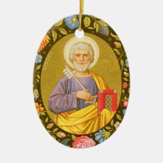 St Peter double face l'apôtre (P.M. 07) Ornement Ovale En Céramique