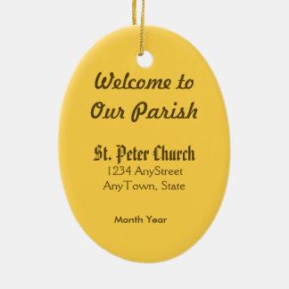St Peter l'apôtre (P.M. 07) Ornement Ovale En Céramique