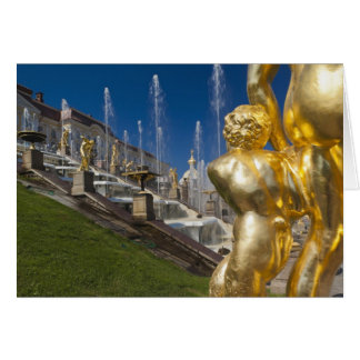 St Petersbourg, fontaines grandes 10 de cascade Carte