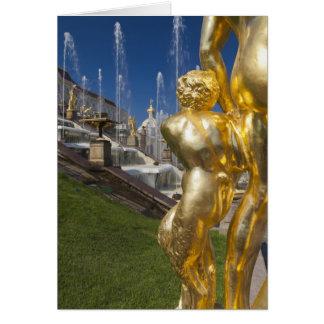St Petersbourg, fontaines grandes 2 de cascade Carte
