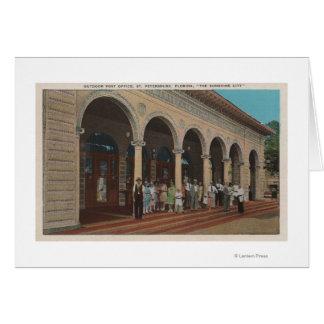 St Petersburg, FL - vue extérieure de courrier Carte