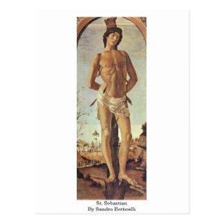 St SebastiAn par Sandro Botticelli Carte Postale