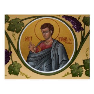 St Thomas la carte de prière d'apôtre