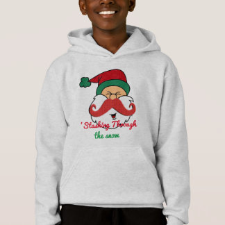 staching par la moustache de père Noël de neige