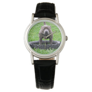 Staffordshire_Bull_Terrier_Ladies_Black_Watch Montres Bracelet