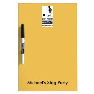 Stag party tableau blanc effaçable à sec