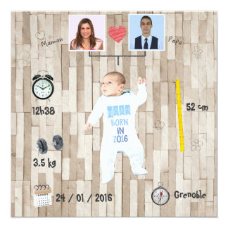 Stamboom ⎮ Kennisgeving van geboorte Kaart