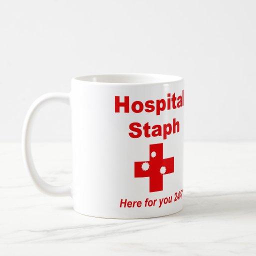 Staphylocoque d'hôpital (rouge et blanc) mug
