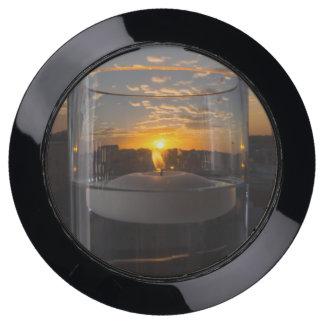 Station De Chargement USB Coucher du soleil de lueur d'une bougie