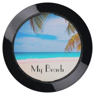 Station De Chargement USB Ma plage, vue tropicale de plage