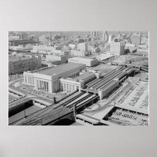 Station de rue de chemin de fer de la Pennsylvanie Poster