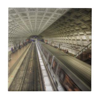 Station de train de métro de Washington DC Carreau