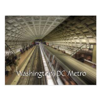 Station de train de métro de Washington DC Carte Postale