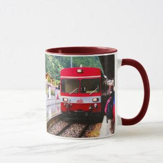 Station de train local, région de luzerne mug