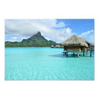 Station de vacances d'Overwater sur la copie de