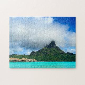 Station de vacances tropicale sur le puzzle