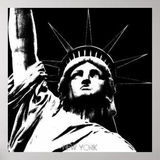 Statue d'affiche de New York de souvenir de la lib