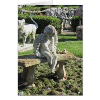 Statue d'ange sur la carte inspirée de citation de