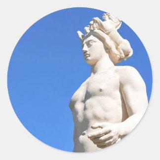 Statue d'Apollo (Neptune) Sticker Rond