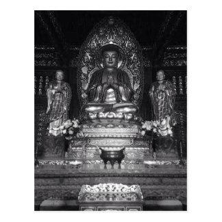 Statue de Bouddha d'un temple bouddhiste chinois Cartes Postales