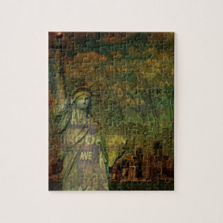 Statue de carte de New York d'Américain de la Puzzle