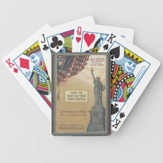 Statue de la liberté jeu de cartes