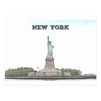 Statue de la liberté - New York Carte Postale