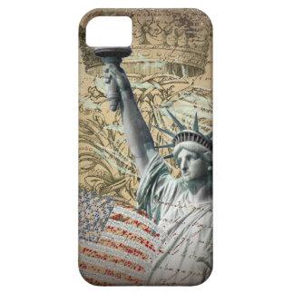 Statue de New York de manuscrits de la liberté Coque iPhone 5
