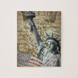 Statue de New York de manuscrits de la liberté Puzzle