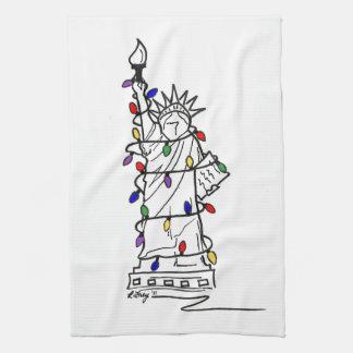 Statue de New York de serviette de lumières de