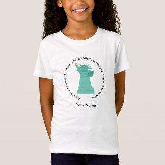 Statue du T-shirt des filles de liberté