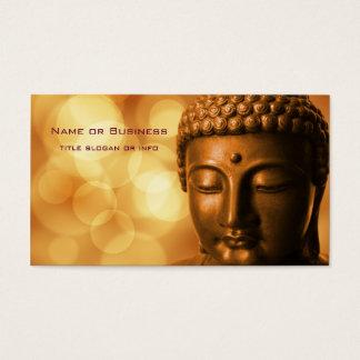 Statue en bronze de Bouddha avec l'arrière - plan Carte De Visite Standard