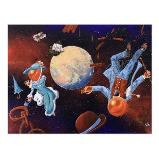 Steampunk a inspiré la carte postale de peinture