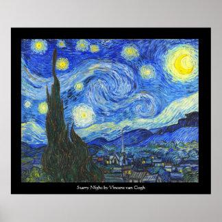 Sterrige Nacht door Vincent van Gogh Poster