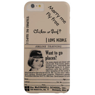 Steward (hôtesse de l'air) vintage de ligne coque barely there iPhone 6 plus