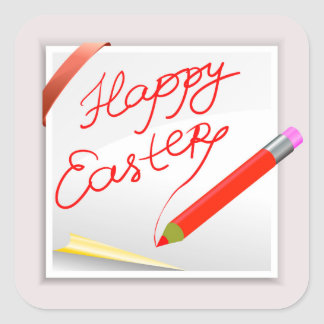 Sticker Carré 150Happy Easter_rasterized