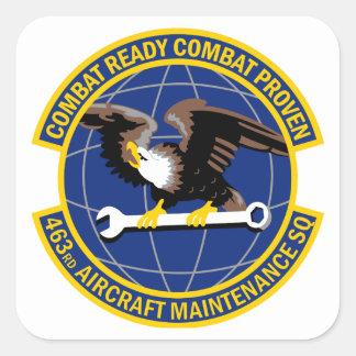 Sticker Carré 463rd Escadron d'entretien des avions