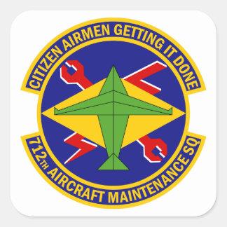 Sticker Carré 712th Escadron d'entretien des avions