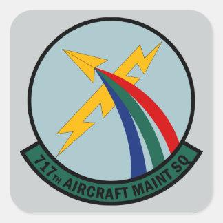Sticker Carré 717th Escadron d'entretien des avions