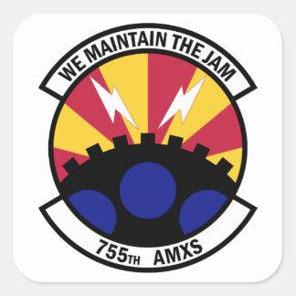 Sticker Carré 755th Escadron d'entretien des avions